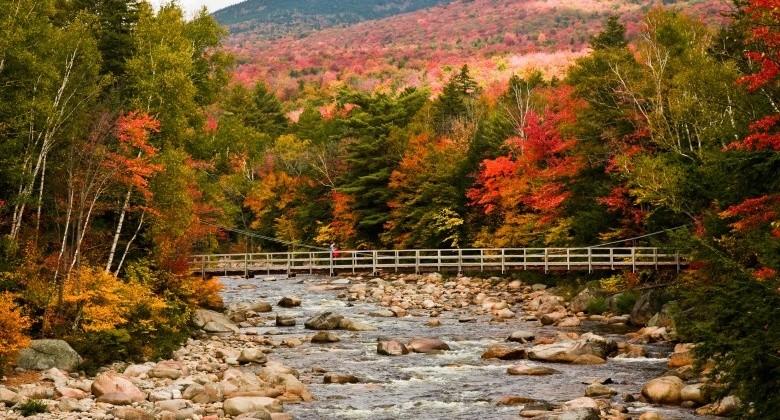 New Hampshire covered bridges and fall foliage