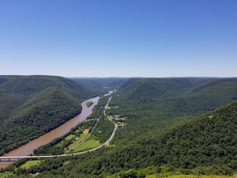 Ariel view of PA 6 crossing deleware river